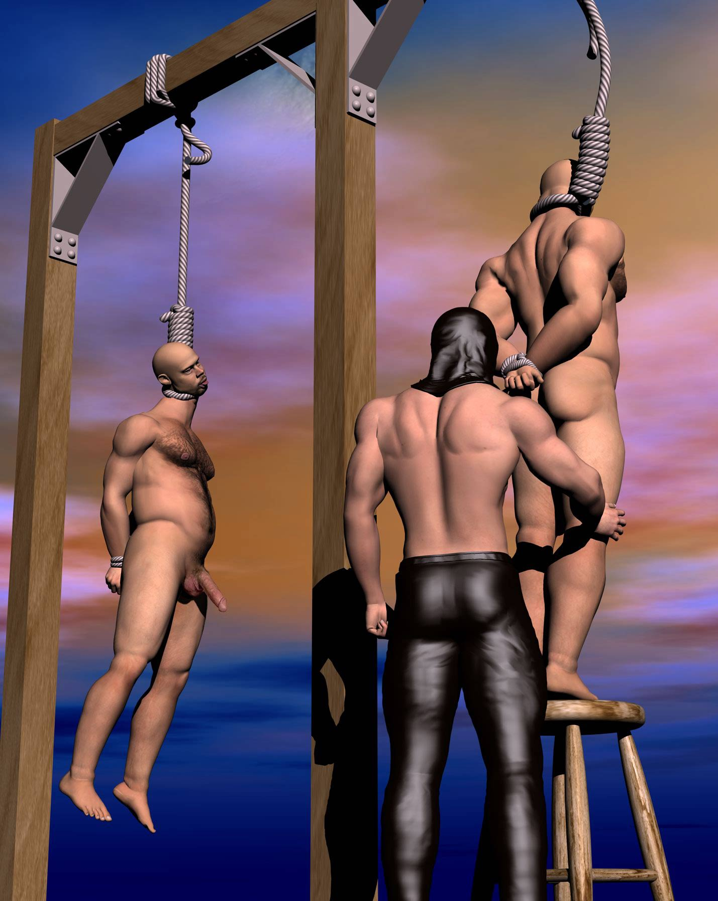 Bdsm hangings blue