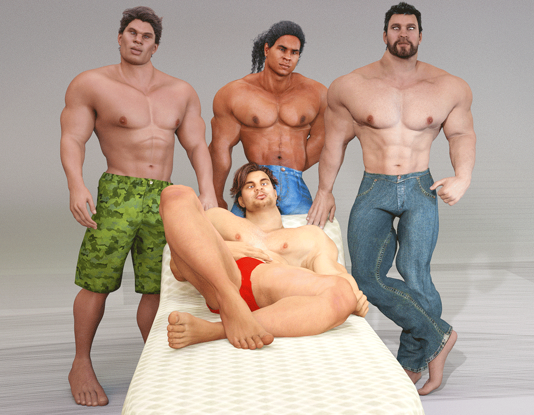 Four male characters