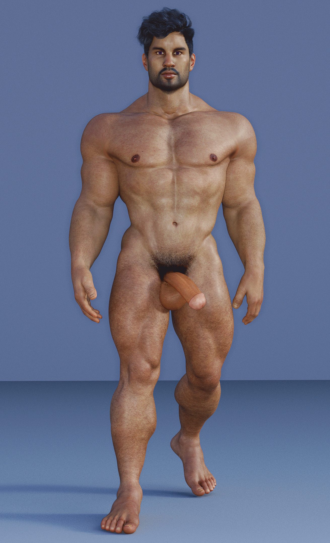 August 2017 original masculine male character nude